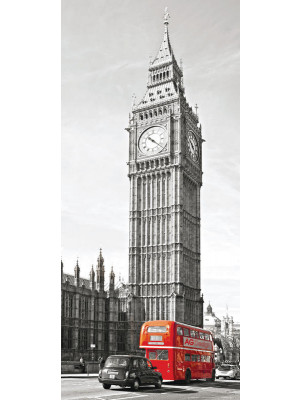 Big Ben , intissé photo mural, 90 x 202 cm, 1 part