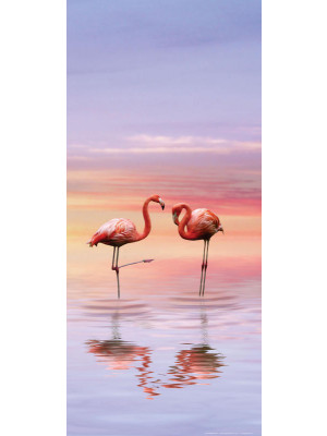 Flamingo , intissé photo mural, 90 x 202 cm, 1 part