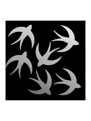 Large decorative miroir swallows, 85 x 65 cm
