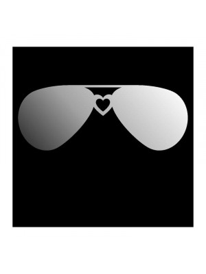 Large decorative miroir sunglasses, 80 x 31 cm