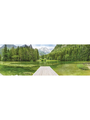 Green Lake Photo murale Lac Vert - 368 x 127 cm