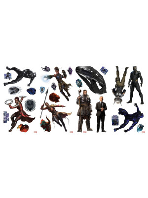 26 Stickers Black Panther Marvel