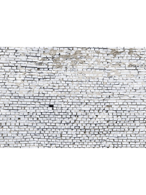 White Brick Photo murale Brique Blanche - 368 x 254 cm