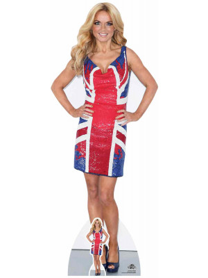 Figurine en carton taille reelle Geri Halliwell Union Jack Dress 157cm