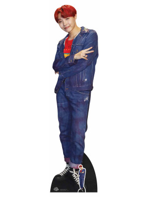 Figurine en carton taille reelle Culs Bongtung Boy Cheveux Rouges Jung_Ho_Sock_J_Hope (Star Mini) 90cm