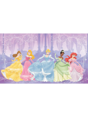 Fresque murale adhésive géante Disney Perfect Princesses - 320 cm, 182,88 cm
