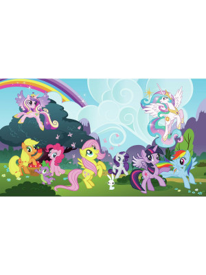 Fresque murale adhésive géante My Little Pony XL - 320 cm, 182,88 cm