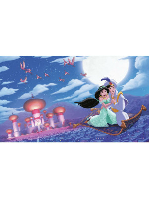 Fresque murale adhésive géante Disney Princesse Jasmine et Aladdin 'A WHOLE NEW WORLD' XL DISNEY - 320 cm, 182,88 cm