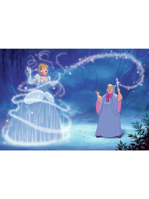 Fresque murale adhésive géante Disney Princesse Cendrillon Magique 'SO THIS IS LOVE' XL - 320 cm, 182,88 cm