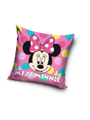 "Coussin Minnie Disney couleur rose ""Miss Minnie ""40x40cm"