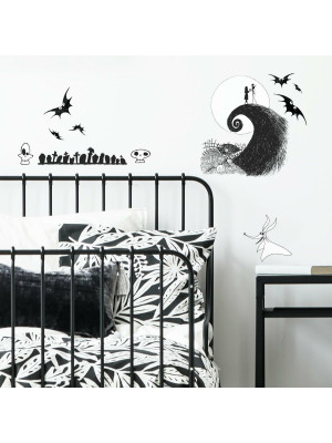 Stickers repositionnables The Nightmare before Christmas Jack and Sally DISNEY - 2,92 cm, 4,52 cm by 44,07 cm, 42,65 cm