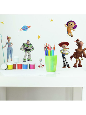 Stickers repositionnables Toy Story 4 PIXAR - 3,05 cm, 3,3 cm by 17,78 cm, 23,37cm