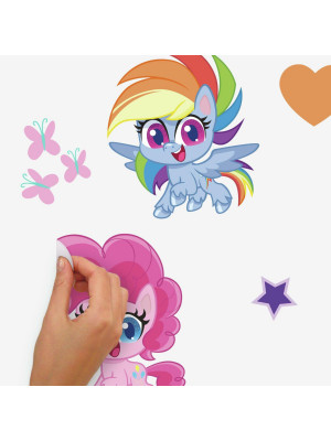 Stickers repositionnables My Little Pony Let's get magical  - 4,7 cm, 4,52 cm by 21,6 cm, 24,54 cm