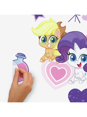 Sticker géant repositionnable My Little Pony Let's get magical  - 5 cm, 4,9 cm by 89,6 cm, 42,4 cm