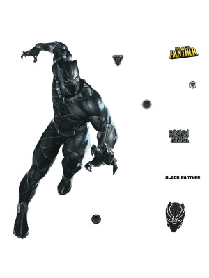 Sticker géant repositionnable Black Panther MARVEL Disney- 121,2 cm x 77,7 cm