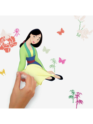Stickers repositionnables Mulan DISNEY - 3.33 cm, 1.32 cm by 20.29 cm, 32.61 cm