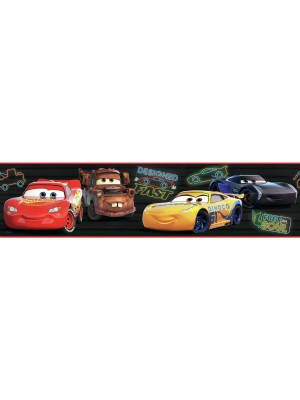 Frise adhésive Disney Cars Piston Cup Racing - 12,7 cm x 4.57 m