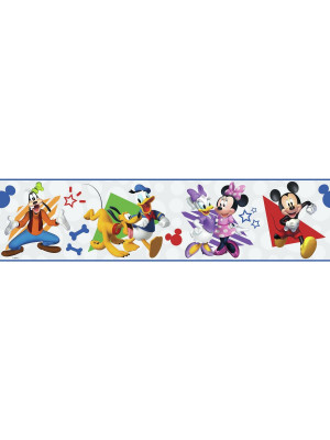 Frise adhésive Disney Mickey and Friends - 12,7 cm x 4.57 m
