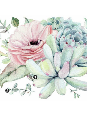 Sticker Mural Sublime Aquarelle Florale