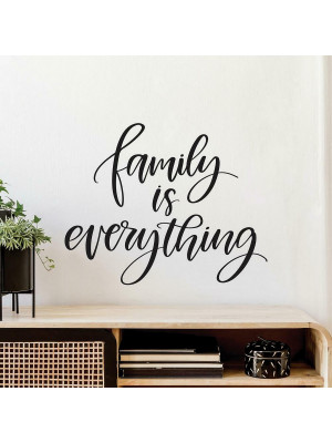 "Sticker Mural Géant Citation ""Family is Everything"" La Famille c'est le plus important"