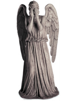 Figurine en carton  DOCTOR WHO  Weeping Angel (clignements Angel)  191  cm