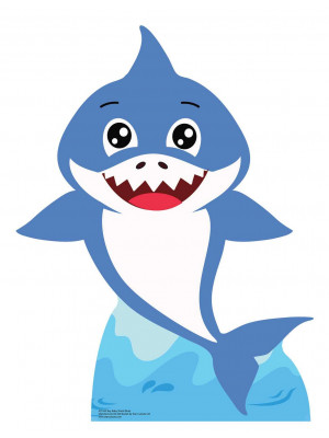 Figurine en carton  Baby Boy Shark (Bleu)  93  cm
