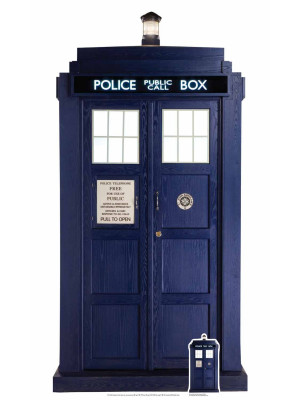 Figurine en carton  DOCTOR WHO Le Tardis (2/3 grandeur nature)  192  cm