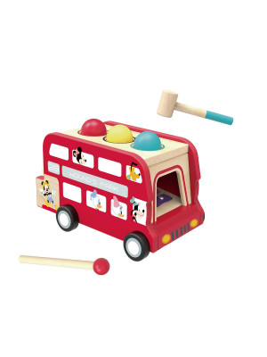 Disney Mickey Mouse Bus impérial musical Xylophone Multicolore - 31x17x17.5 cm