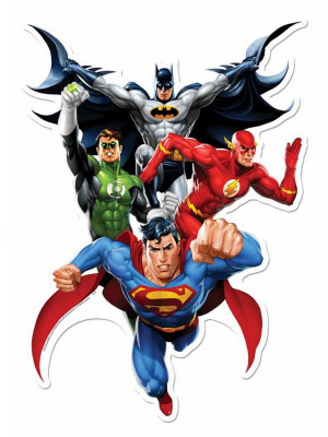 Blason mural en carton Justice League  81  cm