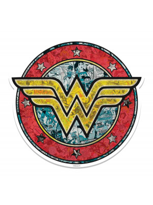 Blason mural en carton Wonder Woman Shield   68  cm