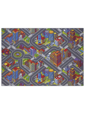 Tapis circuit voiture - Big city - 140 x 200 cm