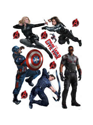 Stickers géant Civil War Captain America 2 Marvel