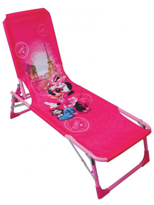 Chaise longue pliante - Disney - Minnie Mouse