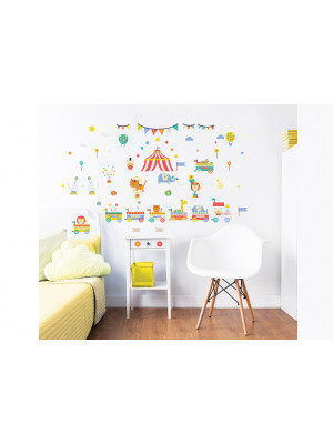 56 Stickers enfants Cirque Walltastic