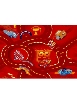 Tapis circuit Cars rouge Disney