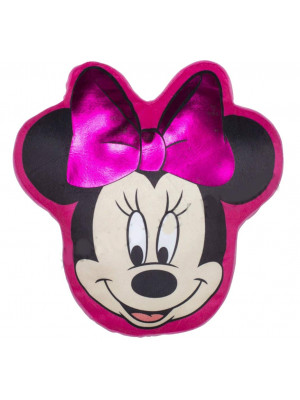 Coussin peluche tete Minnie Mouse Disney