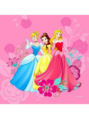 Coussin Princesses 2 faces Disney 40x40 cm