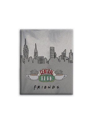 Couverture de flanelle friends fond new york 130x160cm