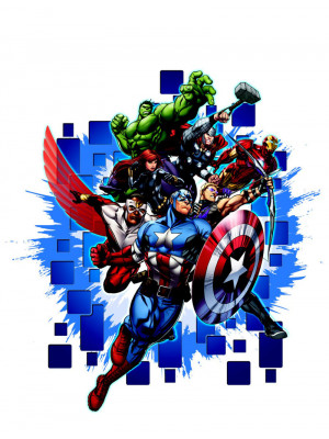 Stickers géant Avengers Marvel