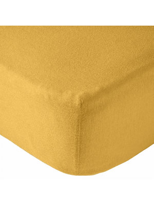Drap housse Jersey Extensible lit 70x140 cm Moutarde
