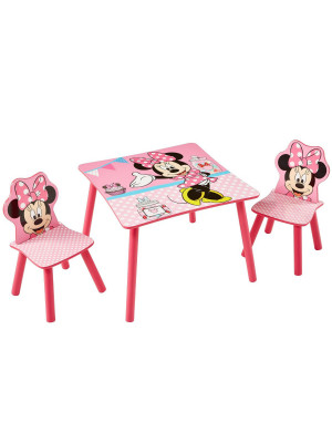 Ensemble table et 2 chaises Minnie Disney