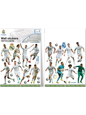 16 Stickers Joueurs Real Madrid 12X18 cm