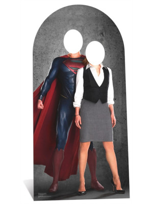 Figurine en carton passe-tete Superman et Lois Lane