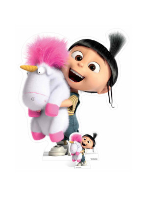 Figurine en carton Agnes and  Fluffy Unicorn H 118 cm