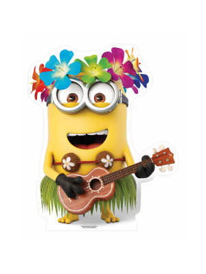 Figurine en carton Hawaiian Guitar Minion H 81 cm