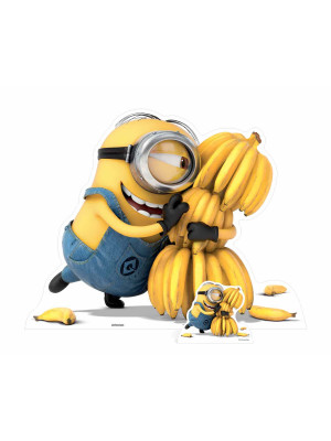 Figurine en carton Minion Bananas H 100 cm