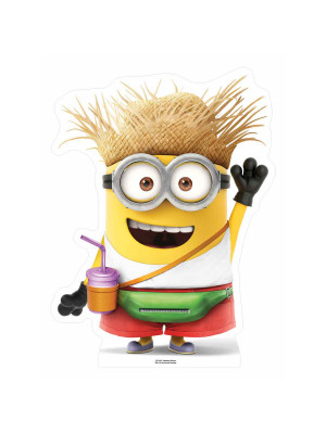 Figurine en carton Vacation Minion with drink H 80 cm