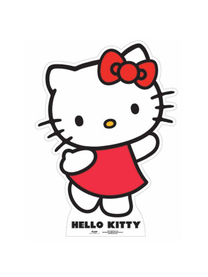 Figurine géante en carton Hello Kitty H 87 CM