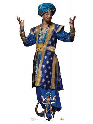 Figurine en carton taille réelle Will Smith Genie d'Aladdin Disney H 189 CM