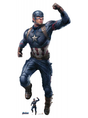 Figurine en carton Marvel Captain America Chris Evans Avengers Endgame H 189 CM